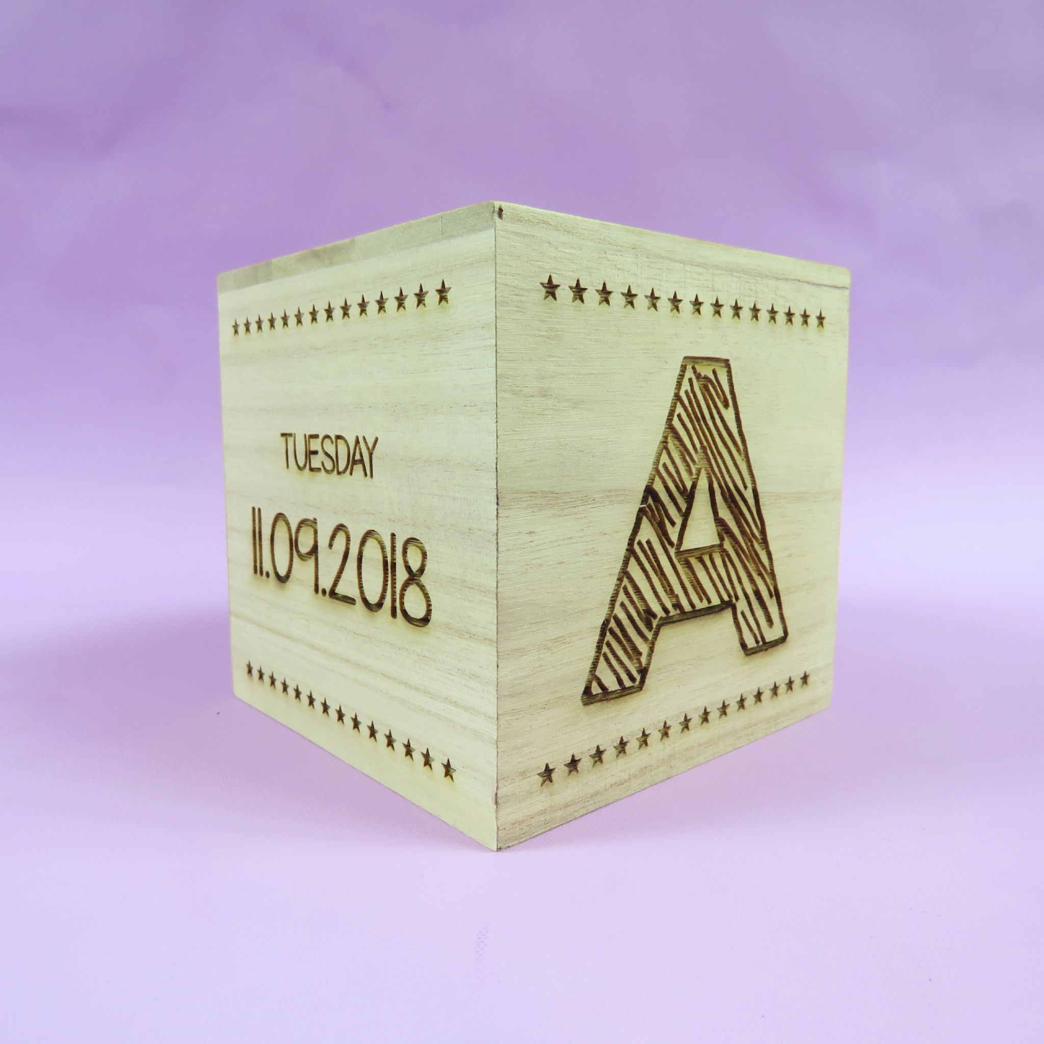 Beautiful engraved newborn baby gift wooden money box birth details personalised, christening gift,